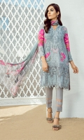 Shirt: Digital Printed Embroidered Dupatta: Printed Chiffon Trouser: Dyed Cambric Trouser Patch: Organza Embroidered
