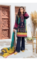 Shirt Front, Back & Sleeves: Digital Printed Lawn Dupatta: Digital Printed Chiffon Neckline: Embroidered Organza Sleeve Patch: Embroidered lawn Trouser: Dyed Cambric
