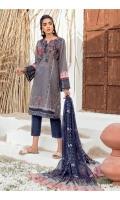 Shirt Front, Back & Sleeves: Digital Printed Lawn Dupatta: Digital Printed Chiffon Neckline: Embroidered Organza Sleeve Lace: Embroidered Organza Trouser: Dyed Cambric