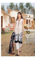 Shirt Front, Back & Sleeves: Digital Printed Lawn Dupatta: Digital Printed Chiffon Neck Lace: Embroidered Organza Daman Patch: Embroidered Lawn Trouser: Dyed Cambric