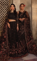 Front Blouse: Embroidered net (0.70 y) Back Blouse: Embroidered net (0.70 y) Saree Fall / Lehenga Font & Back: Embroidered Net with hand embellished (4.2 y) Sleeves: Embroidered Net (0.70 y) Saree Pallu / Dupatta: Embroidered Net with hand embellished(2.75 y) Saree Pallu / Dupatta Pallu Border: Embroidered Organza with hand embellished(2.75 y) Saree Pallu / Dupatta Lace 1: Embroidered Organza with hand embellished(2.75 y) Saree Pallu / Dupatta Lace 2: Embroidered Organza (2.75 y) Saree Fall / Lehenga Front & Back Lace: Embroidered Organza(4.2 y) Sleeve Lace: Embroidered Organza (1 y) Trouser: Dyed Raw Silk (2. 5 y)