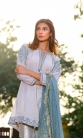 Lawn Embroidered Shirt with Dupatta 2 piece shirt + Dupatta
