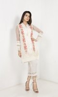 Organza Jacquard Shirt with Printed Crush Duppata