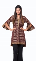 Mahroon Jacquard Shirt Jacquard 1 Pc(Shirt Only)
