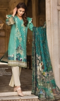 Lawn Embroidered Front Lawn Printed Back Lawn Printed Sleeves Lawn Printed Border for Front Crinkle Chiffon Printed Dupatta Plain Trouser