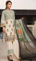Lawn Print Embroidered Front Lawn Printed Back Lawn Printed Sleeves Embroidered Border for Trouser Crinkle Chiffon Printed Dupatta Plain Trouser