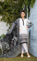 LAWN EMBROIDERED FRONT LAWN PRINTED BACK AND SLEEVES ORGANZA EMBROIDERED NECKLINE PATTI ORGANZA EMBROIDERED BORDER FOR FRONT AND SLEEVES CHIFFON PRINTED DUPATTA PLAIN TROUSER