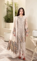 EMBROIDERED  CHIFFON FRONT EMBROIDERED CHIFFON BACK EMBROIDERED CHIFFON SLEEVES EMBROIDERED SLEEVES BORDER DYED DUPATTA EMBROIDERED DUPATTA PATCH EMBROIDERED TROUSER PATCH DYED TROUSER