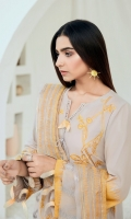 Embroidered Lawn Front Embroidered Lawn Back Embroidered Lawn Sleeves Embroidered Lawn Front, Back & Sleeves Border Embroidered Organza Dupatta Embroidered Trouser Border Dyed Trouser