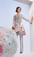Digital Printed Shirt Embroidered Neck Patch Embroidered Trouser Patti Digital Printed Chiffon Dupatta Dyed Trouser