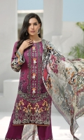Digital Printed Shirt Embroidered Front Border Embroidered Trouser Patch Digital Printed Chiffon Dupatta Dyed Trouser