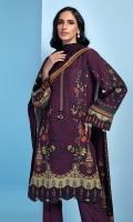 Digital Printed Khaddar Shirt Digital Printed Viscose Net Dupatta Embroidered Neck Patti Embroidered Khaddar Trouser