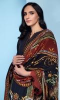 Digital Printed Khaddar Shirt Digital Printed Viscose Net Dupatta Embroidered Neck Patti Dyed Khaddar Trouser