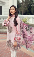 Digital Printed Shirt Embroidered Neck Patch Embroidered Trouser Patch Embroidered Front Border Digital Printed Chiffon Dupatta Dyed Trouser