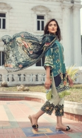 Digital Printed Shirt Embroidered Neck Patti Embroidered Trouser Patch Digital Printed Chiffon Dupatta Dyed Trouser