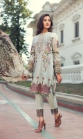 Embroidered Lawn Front Digital Printed Back Digital Printed Chiffon Dupatta Dyed Trouser Dyed Organza Patch