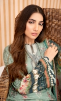 Digital Printed Shirt Digital Printed Chiffon Dupatta Embroidered Front Embroidered Daman Patch Dyed Trouser Dyed Organza