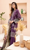 Digital Printed Shirt Digital Printed Chiffon Dupatta Embroidered Front Embroidered Daman Border Dyed Trouser