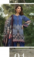 Printed Viscose Net Dupatta Printed Linen Shirt Embroidered Neck Patti Embroidered Trouser Patch Dyed Trouser