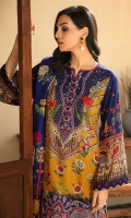 Digital Printed Linen Shirt Digital Printed Viscose Net Dupatta Embroidered Neck & Border Patch Embroidered Linen Trouser Dyed Organza