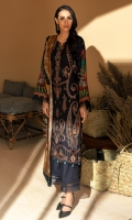 Digital Printed Embroidered Linen Front Digital Printed Linen Back & Sleeves Digital Printed Viscose Net Dupatta Embroidered Front Border Dyed Linen Trouser Dyed Organza