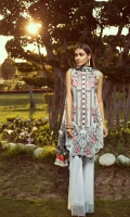 Digital Printed Shirt Digital Printed Chiffon Dupatta Embroidered Front  Embroidered Front Border  Printed Trouser Dyed Organza Patch
