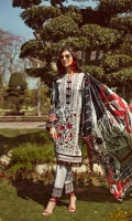 Digital Printed Shirt Digital Printed Pure Silk Dupatta Embroidered Front  Embroidered Front Border  Embroidered Sleeve Patch Embroidered Trouser Patch Dyed Trouser Dyed Organza Patch