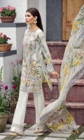 Embroidered Lawn Front Digital Printed Back Digital Printed Sleeves Digital Printed Pure Chiffon Dupatta Dyed Trouser
