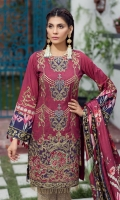 Embroidered Lawn Front Digital Printed Back Digital Printed Sleeves Embroidered Front Border Patch Digital Printed Medium Silk Dupatta Printed Trouser