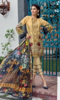 Embroidered Front Lawn Digital Printed Back Digital Printed Sleeves Embroidered Front Border Patch Digital Printed Trouser Patch Digital Printed Tissue Silk Dupatta Dyed Trouser