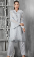 Shirt : Cotton net Trouser : viscose Dupatta : Organza