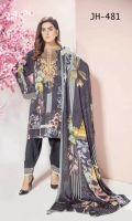 Digital Print & Embroidered Leather Shirt With Digital Printed Wool Shawl With Plain Leather Trouser