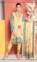Digital Print & Embroidered Modal Fabric Shirt With Digital Printed Modal Dupatta With Plain / Embroidered Trouser