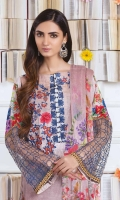 Digital Print & Embroidered Viscose Shirt With Soft & Luxurious Chiffon Dupatta With Embroidered Viscose Trouser