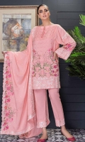 Embroidered Leather Peach Shirt With Embroidered Leather Wool Shawl With Embroidered Leather Peach Trouser