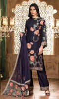 3 Piece Suit Embroidered Jacquard Viscose Shirt Embroidered Chiffon Dupatta Dyed Viscose Trouser