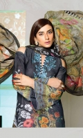 Three pcs Digital Printed Embroidered Karandi With Printed Chiffon Dupatta.