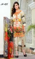 Digital Print & Embroidered Chikankaari Lawn Shirt With Digital Printed Bamber Chiffon Dupatta Embroidered Cotton Trouser