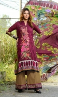 Three Pcs Printed & Embroidered Viscose With Printed Viscose Shawl