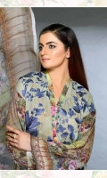 3 Piece Suit Print Embroidered Karandi Shirt Printed Chiffon Dupatta