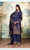 Embroidered Karandi Shirt Embroidered Crinkle Chiffon Dupatta Embroidered Karndi Trouser