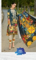 3 Piece Suit Printed and Embroidered Staple Shirt Printed Staple Twill Dupatta Dyed Staple Trouser