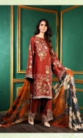 Embroidered Rayon Viscose Jacquard Shirt With Embroidered Chantelle Chiffon Dupatta With Embroidered Viscose Trouser