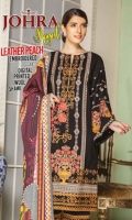 Embroidered Leather Peach Shirt With Printed Wool Shawl With Embroidered Leather Peach Trouser