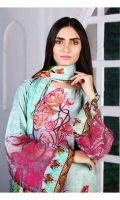 Digital Print & Embroidered Viscose Shirt With Digital Printed Soft & Luxurious Viscose Dupatta With Embroidered Viscose Trouser