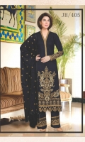 Embroidered Jacquard Dhanak Shirt With Embroidered Jacquard Dhanak Shawl With Embroidered Dhanak Trouser