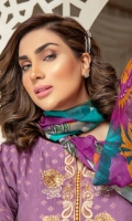 Embroidered Silk Viscose Jacquard Shirt With Digital Printed Chantelle Chiffon Dupatta With Embroidered Viscose Trouser