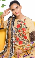 Digital Printed & Embroidered Viscose Shirt With Soft & Luxurious Embroidered Chiffon Dupatta With Embroidered Viscose Trouser