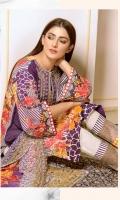 Printed & Embroidered Karandi Shirt With Print & Embroidered Chiffon Dupatta Embroidered Karandi Trouser