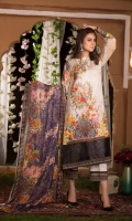 Digital Print & Embroidered Jacquard Lawn With Digital Printed Bamber Chiffon Dupatta